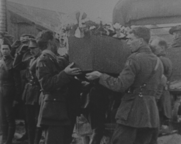 Incidents in Connection with the Funeral of Captain Baron von Richthofen  (1918) clip 1 on ASO - Australia's audio and visual heritage online